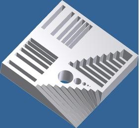 校准3D打印机用的模块